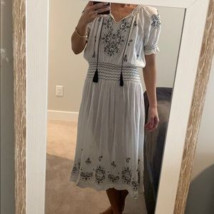 The Great embroidered cotton dress